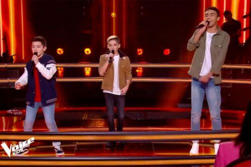 "Replay ""The Voice Kids"":  Maxime, Tony & Abdellah interprètent « Hola Senorita » de Maître Gims"