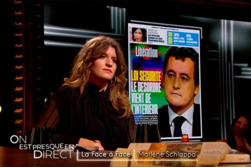 """On est en direct"":  Marlène Schiappa, le face à face avec Laurent Ruquier"