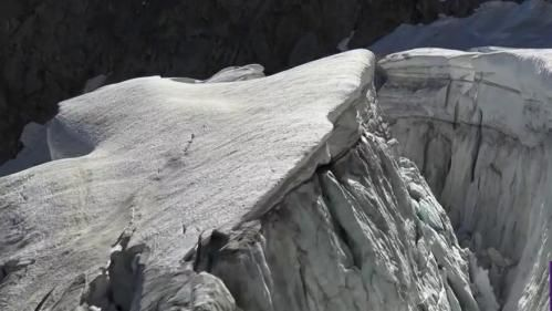 Massif du Mont-Blanc:  un glacier menace de se détacher